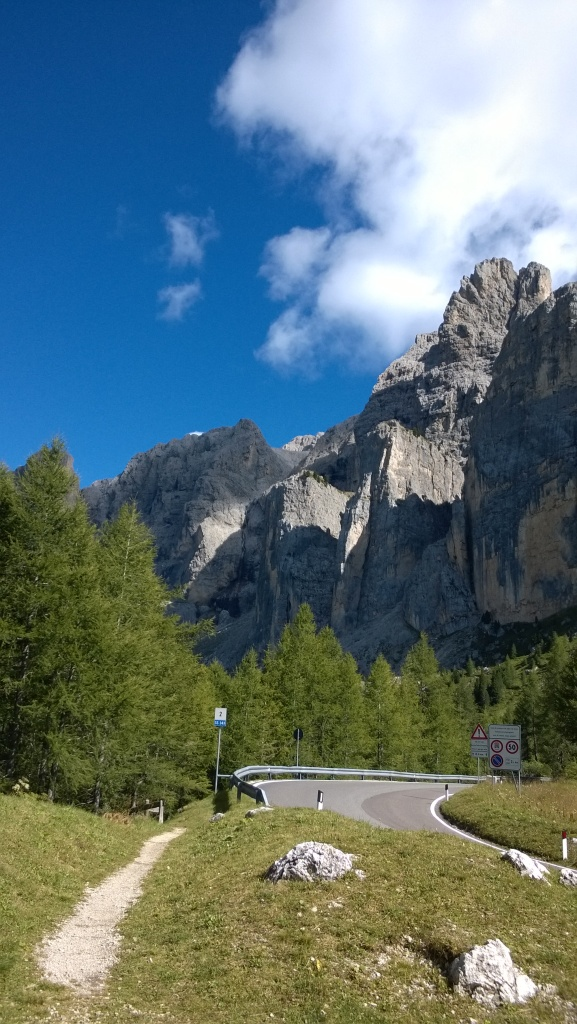 View from lunch, partway up the Passo Gardegna
