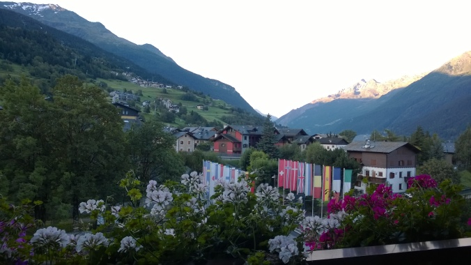 Last chance to look out of our Bormio hotel room and see this.
